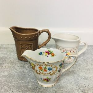 Unique ceramic vintage creamer cups X3